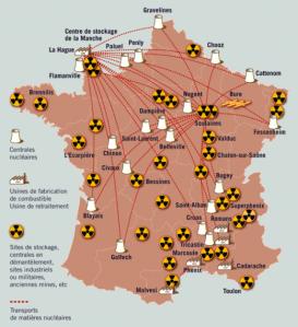 France déchets nucléaires carte